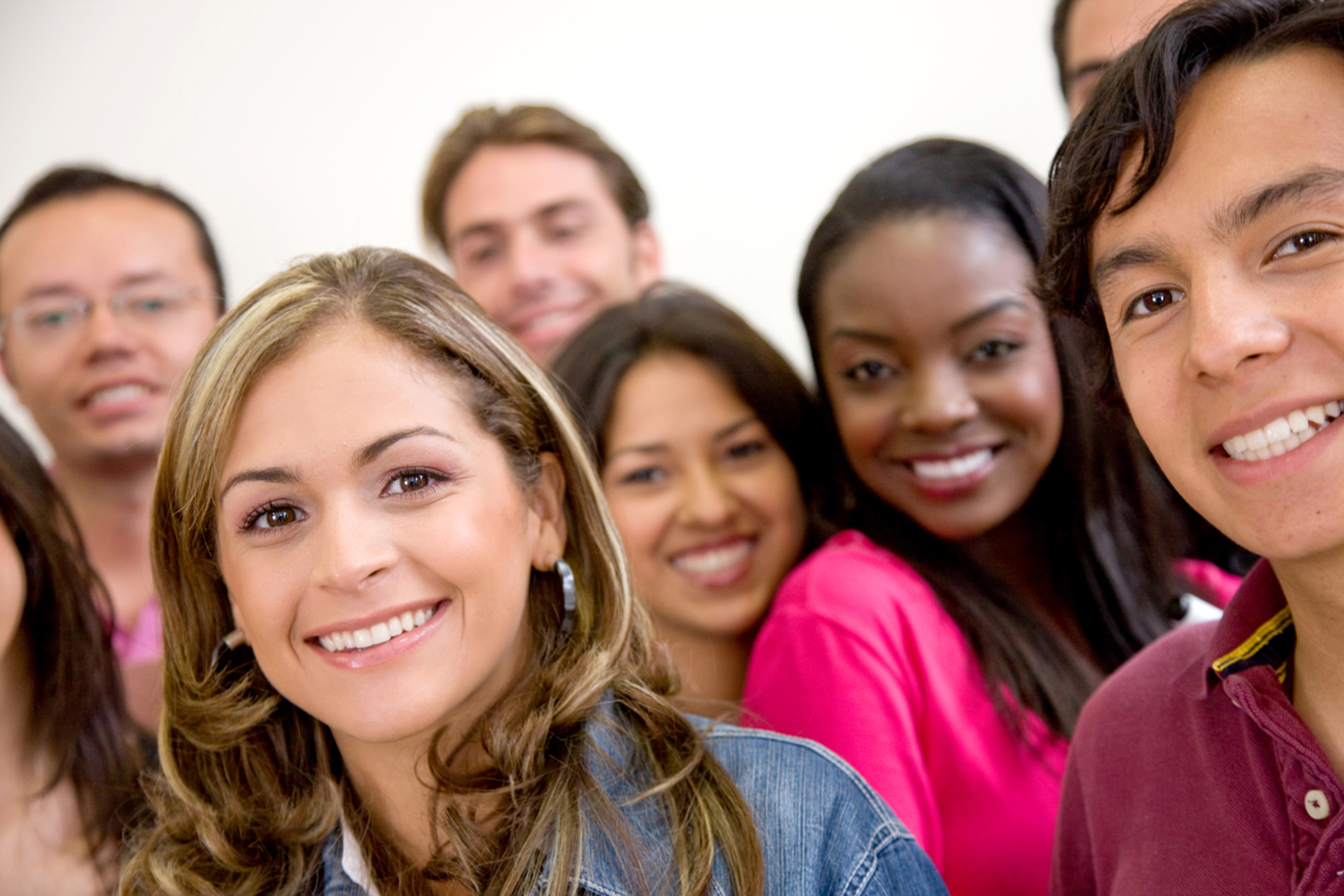 image of group of young multiethnic students smiling
