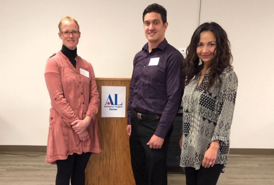 Nancy Tomb, Galen Stevenson, and Andrea (Ivonne) Kossik attending the ALD Lucheon