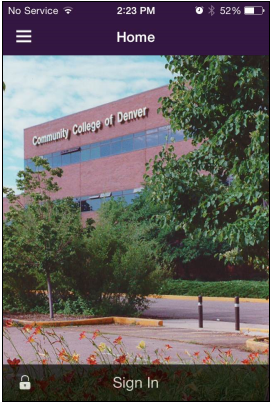 building with CCD sign and trees