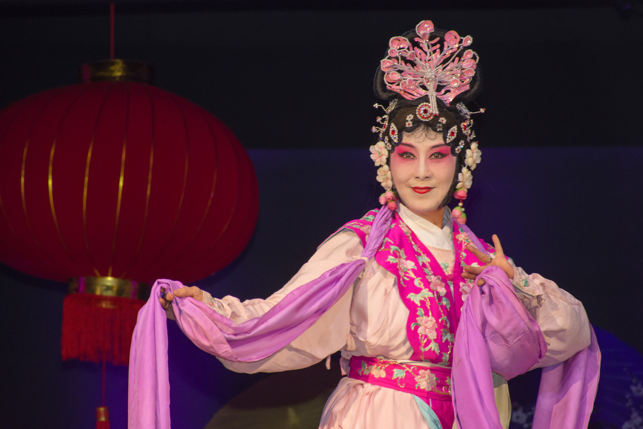 female in traditional Chinese dress and makeup