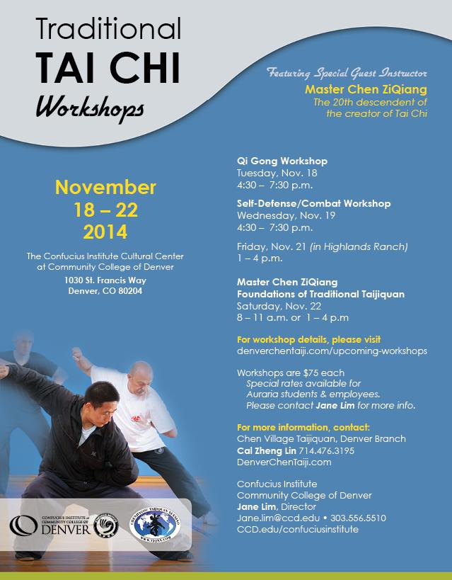 Chi Kung-Tai-Chi work shop