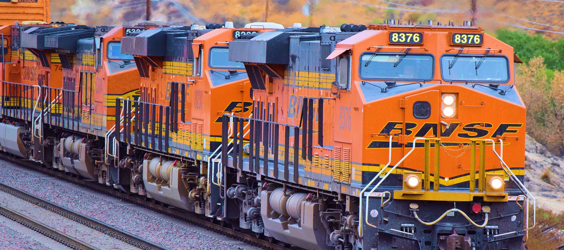 BNSF orange train