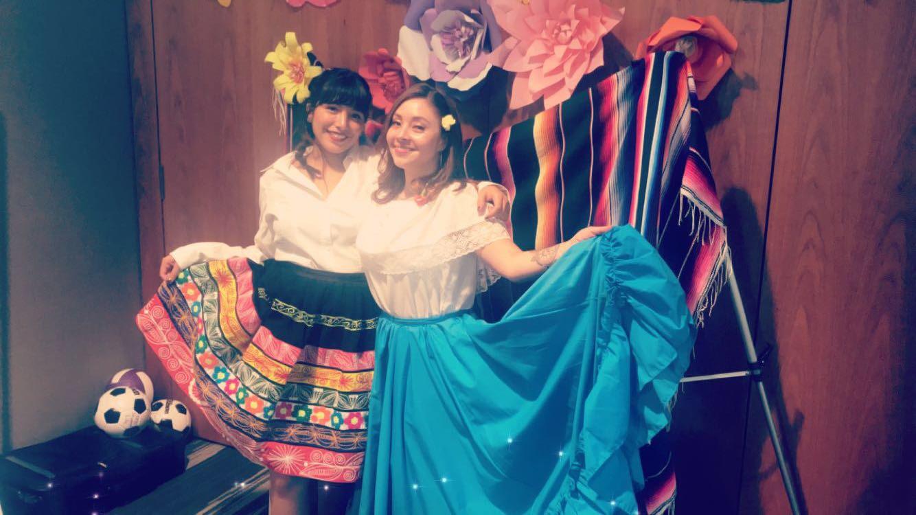 Melanie Romero and Barbara Quinto representing Spain and Peru