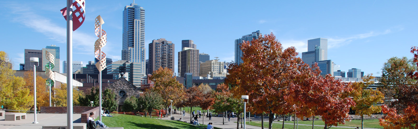 East view of downtown Denver from Auraria Campus