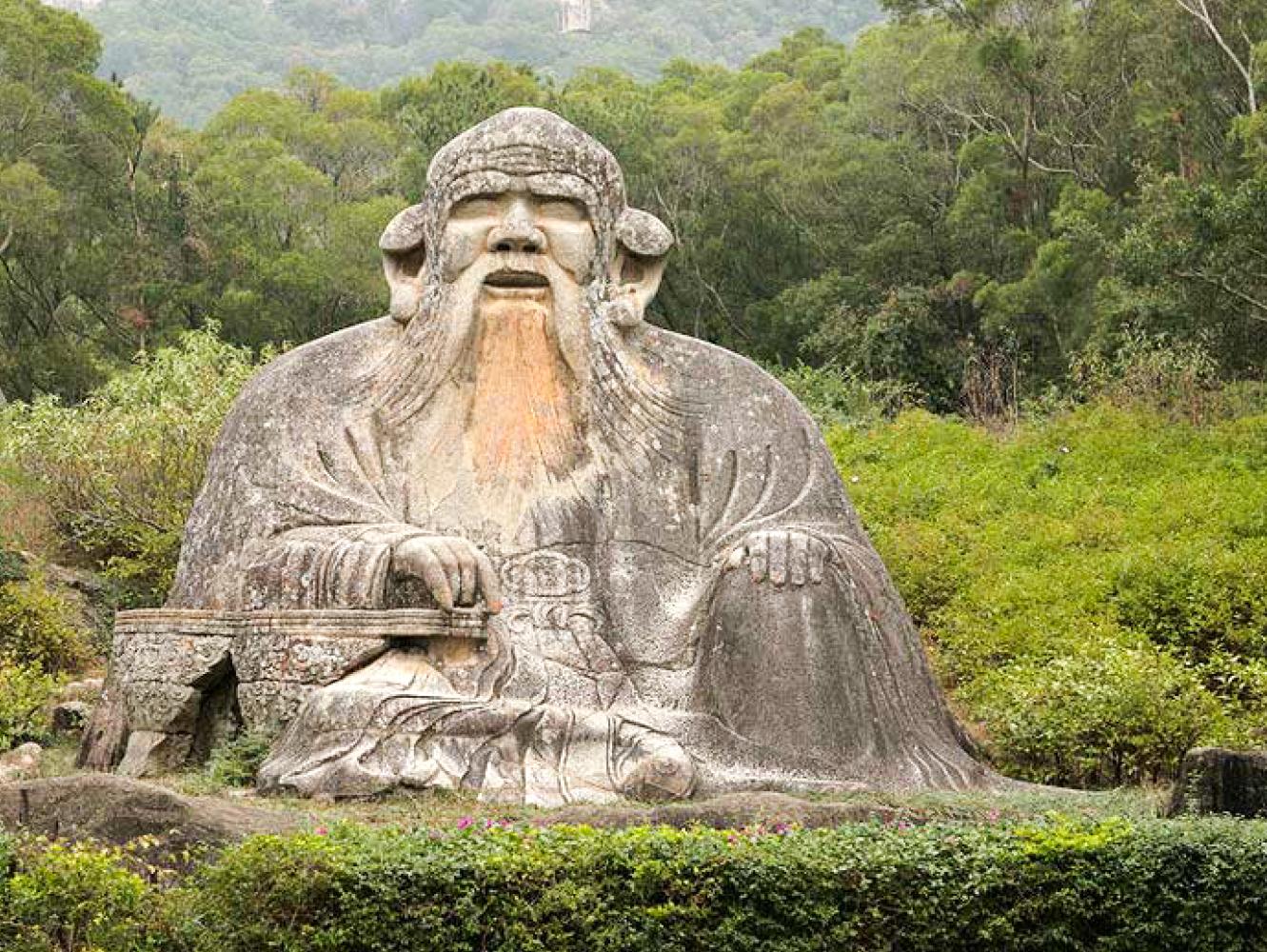 dao statute on green hillside