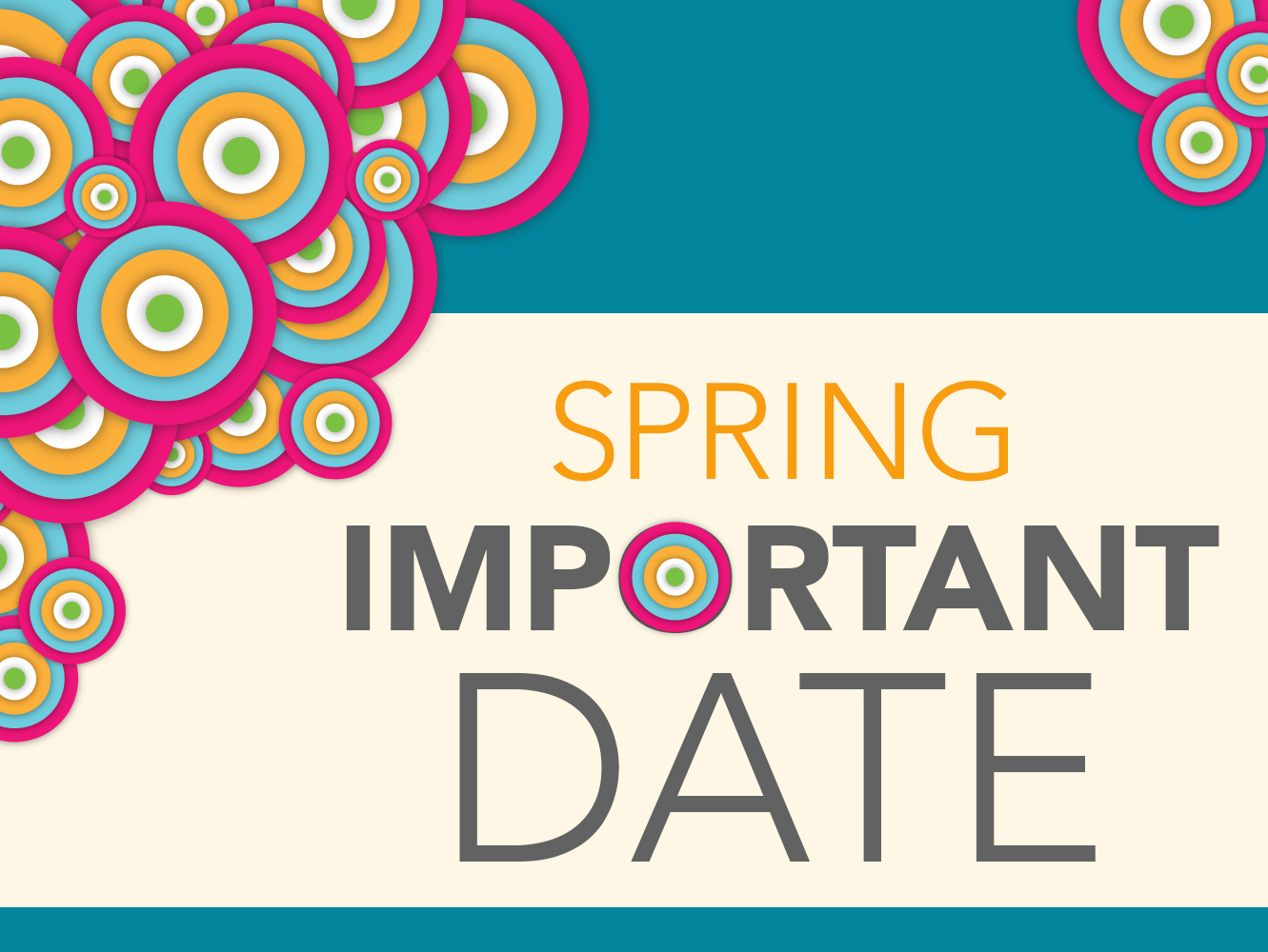 colorful graphic for important dates