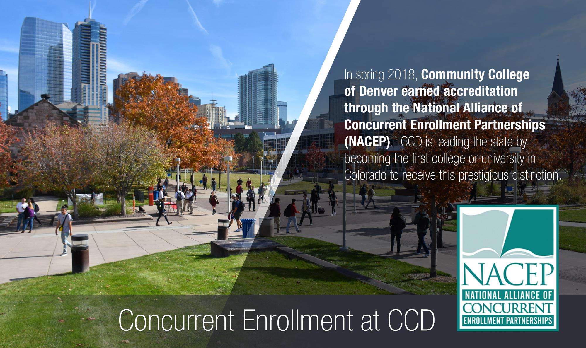 CCD concurrent enrollment poster