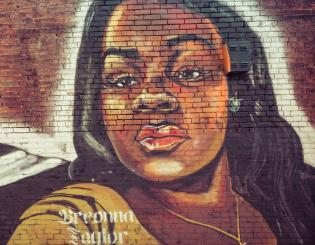 wall mural of breonna taylor