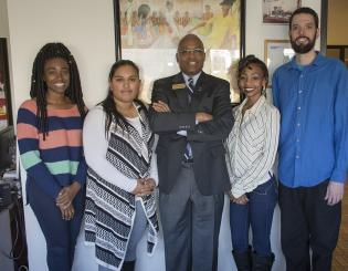 four students with ccd president