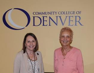 Photo of CCD Foundation Executive Director, Leah Goss and Dr. Margaret Rust