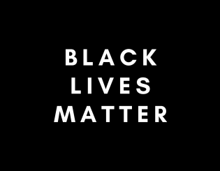 "white text ""black lives matter"" on black background"