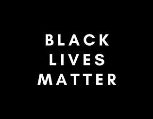 """white text """"black lives matter"""" on black background"""