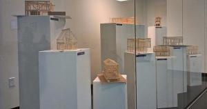 photograph of architectural models that are on display in Cherry Creek