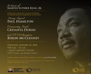 details on Dr. MLK Jr. Annual Celebration