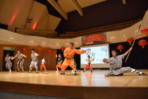Kung fu performance on stage