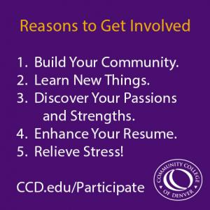 five reasons to get involved at CCD