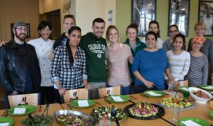 Group Shot of CCD Nutrition Students standing in front of the dishes they have prepared