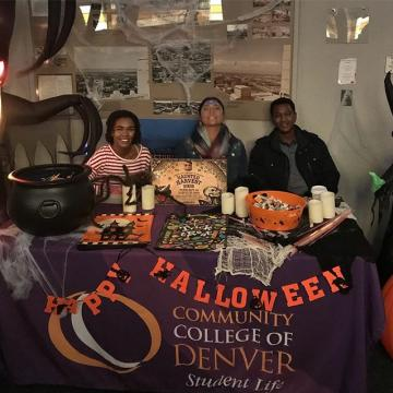 Haunted Harvest is the Office of Student Life's LARGEST community service project! We will be celebrating 30 years of safe trick or treating for the youth in Denver-Metro area. Our event will be Wednesday, October 30th from 3pm-6pm in the Tivoli Tu