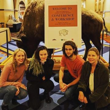 CCD students presented their ecology research findings at American Bison Society National Conference and at @denverzoo for the Bison Day Celebration. #science #ecology #americanbison