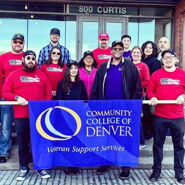 CCD's Veterans and staff are ready to match in Denver's Annual Veterans Day Parade!