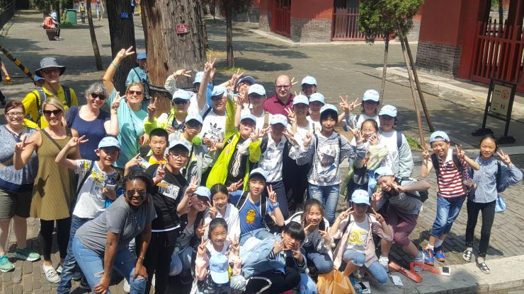 group of Chinese middle school students