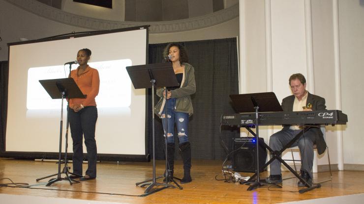 CCD students sing the Black National Anthem at MLK celebration 2020