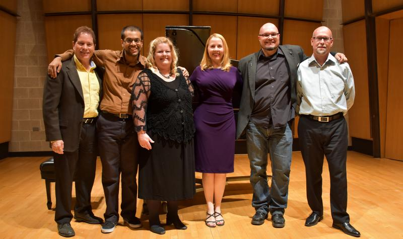 ccd music faculty on stage in the King Center