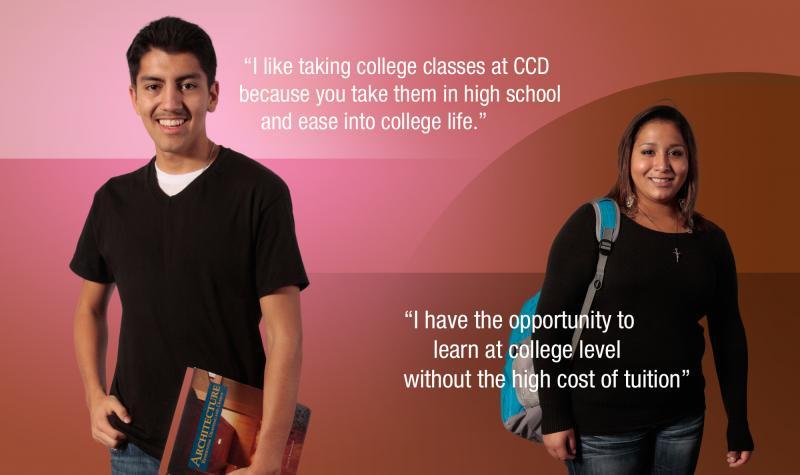 graphic with ccd students and quotes