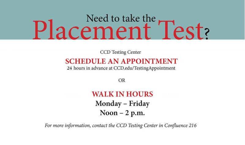 testing center walk in hours poster