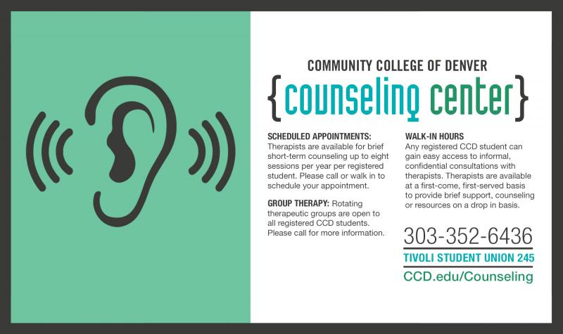counseling center poster