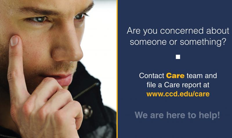 Are you concerned about someone or something? File a report today. We're here to help!