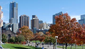 skyline of Denver from Auraria Campus