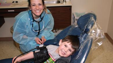image of dental hygienist and a patient