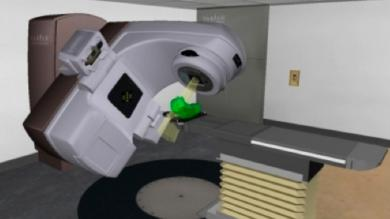 a graphic rendering of a radiation therapy machine