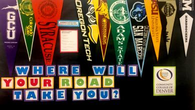 college flags for tranferring students
