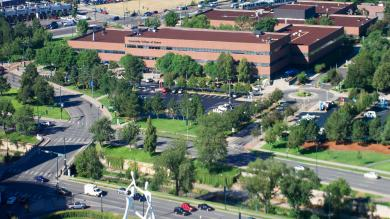 aerial image of auraria campus